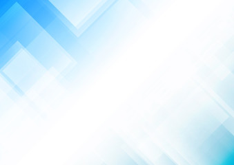 Abstract light blue background with square shapes