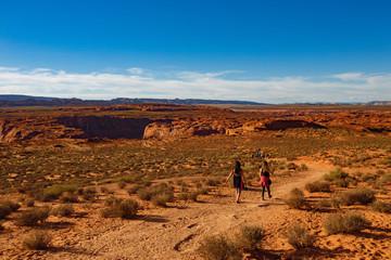 Hiking Grand Canyon Trip at Horseshoe bend, Arizona,  USA