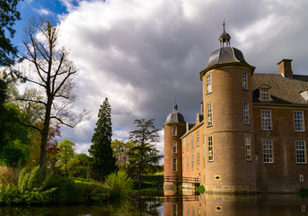Slangenburg Castle near Doetinchem, Holland on a spring day.