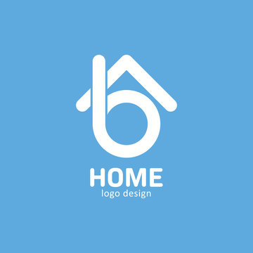 sleek b letter home simple logo