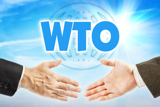 WTO, World Trade Organization. Global economic union of most of countries