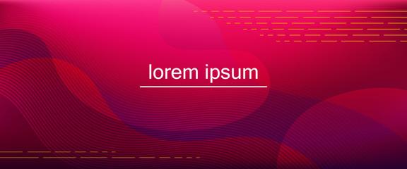 Red-purple horizontal gradient background with blurred fluid effect. Vector illustration Fotoväggar