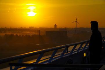 Sonnenaufgang über Ijmuiden