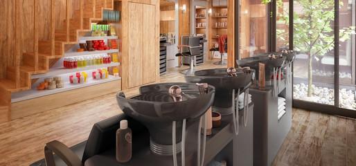 Hair Salon (panoramic) - 3d visualization