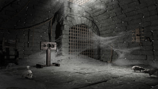 Abandoned torture chamber