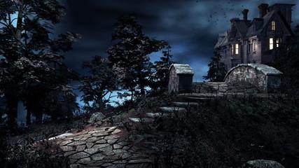 Obraz Old haunted house - fototapety do salonu