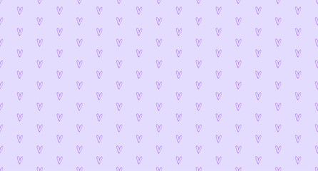 Hand drawn background with colored hearts. Seamless grungy wallpaper on surface. Abstract texture with love signs. Lovely pattern. Line art. Print for banner, flyer or poster. Colorful illustration