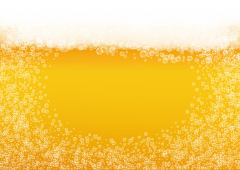 Oktoberfest background. Beer foam. Craft lager splash.