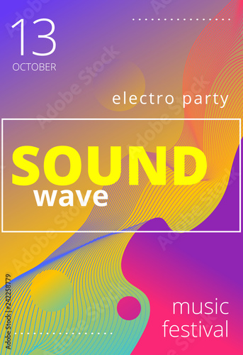 Electronic music poster  Modern club party flyer  Abstract