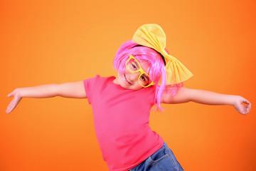 Multicolored little girl