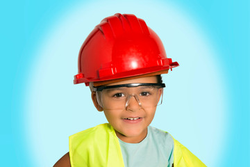 Little worker girl