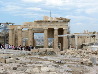 Europe, Greece, Athens, thousands of tourists  visit the Acropolis every year