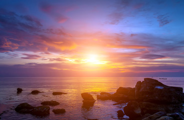 Sunrise Tropical  sea