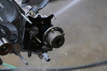 Car's engine detail