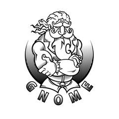 illustration design tattoo gnome