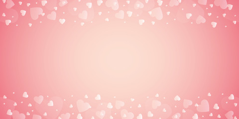 bright pink border with heart for wedding and valentines day vector illustration EPS10