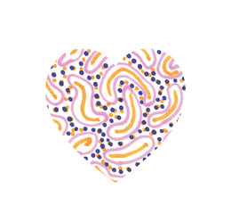Hand drawn watercolor heart texture love valentine