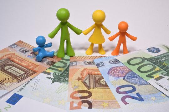 famille famillial parent enfant argent euro