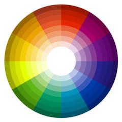 roue chromatique façon verre dépoli