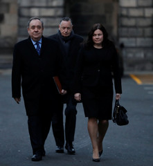 Former First Minister of Scotland Alex Salmond arrives at the Court of Session in Edinburgh, Scotland