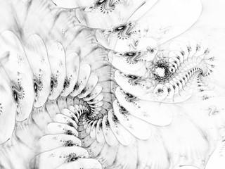 surreal futuristic digital 3d design art abstract background fractal illustration for meditation and decoration wallpaper