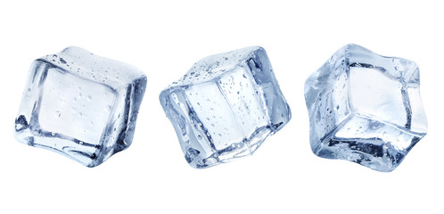 Ice cubes, isolated on white background