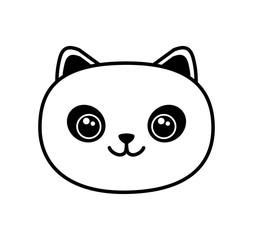 Cute Kawaii style panda vector