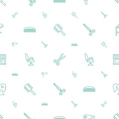 hairdresser icons pattern seamless white background