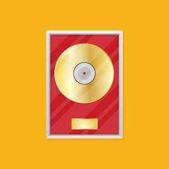 Flat vinyl disk vector icon