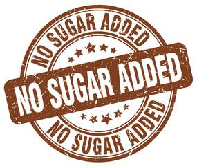 no sugar added brown grunge stamp