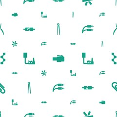 wire icons pattern seamless white background