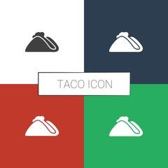 taco icon white background
