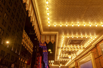 New-York close up of a Broadway theater entrance