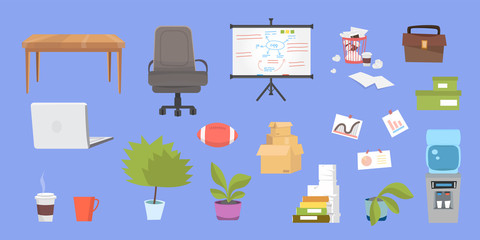 Clipart collection with office furniture