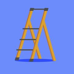 Illustration of platform ladder