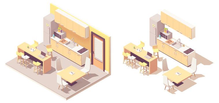 Vector Isometric kitchen