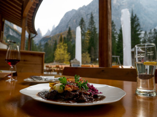 Deer goulash Dolomites South Tirol