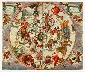 The northern stellar hemisphere of antiquity from The Harmonia Macrocosmica of Andreas Cellarius (1660)