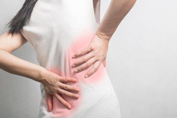 woman have waist ache and pain