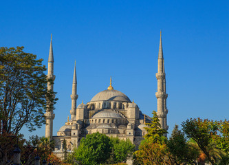 Blue Mosque in Istanbul at sunrise. Turkey