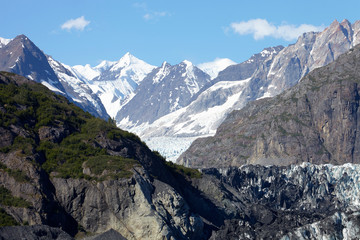 Detail Of Glacier In Glacier Bay Alaska USA