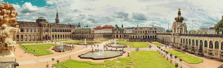 Foto op Aluminium Historisch geb. Dresden, Germany - August 4, 2017: Zwinger - late German Baroque, founded in the early 18th century. a complex of four magnificent palace buildings.