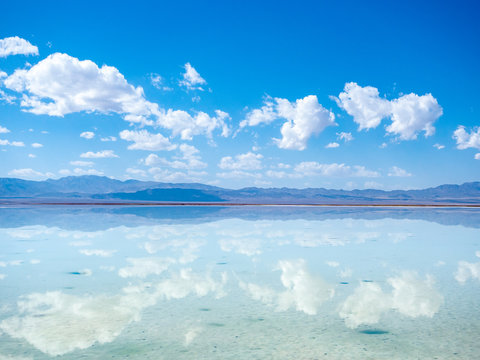 Chaka salt lake in qinghai