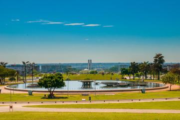 Esplanada dos Ministérios, main area of Brasilia, capital of Brazil