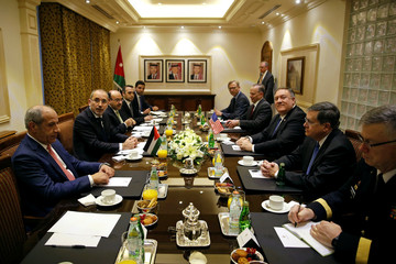 U.S. Secretary of State Mike Pompeo meets with Jordanian Foreign Minister Ayman Safadi in Amman