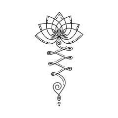 Unalome Lotus Flower Vector