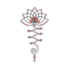 Unalome Lotus Flower