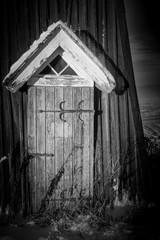 Traditional Swedish old wooden door