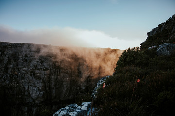 clouds above table mountain, cape town