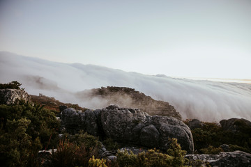 Scenic view of clouds over Table Mountain